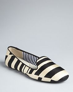 {striped smoking flats} by Charles Philip - love the bold stripes