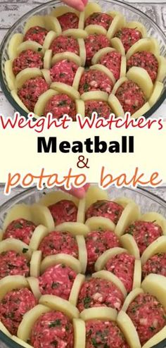 Boil Potatoes And Slice Them. Arrange With Meatballs And Cheese And Bake For A Delicious French Treat – Weight Watchers Recipes Boil Potatoes And Slice Them. Arrange With Meatballs And Cheese And Bake For A Delicious French Treat – Weight Watchers Recipes Skinny Recipes, Ww Recipes, Cooking Recipes, Healthy Recipes, Recipies, Healthy Hamburger Recipes, Italian Recipes, Lunch Recipes, Dinner Recipes