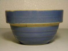 Items similar to Vintage U. 5 Inch Blue Ribbed Crock Bowl on Etsy Antique Crocks, Old Crocks, Antique Dishes, Primitive Antiques, Antique Glass, Old Pottery, Mccoy Pottery, Vintage Pottery, Stoneware Crocks