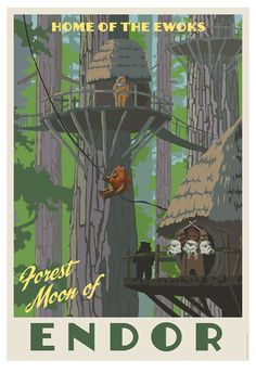 Home of the Ewoks - by Steve Thomas<br>giclee on paper