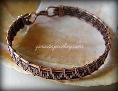 Copper Wire Weave Bracelet for Men or Women