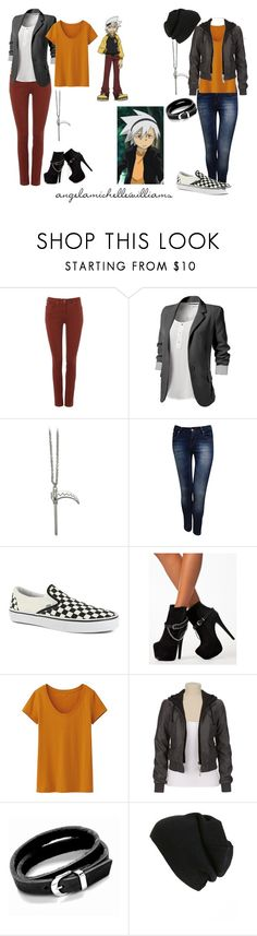 """""""Soul 'Eater' Evans"""" by angelamichellewilliams ❤ liked on Polyvore featuring Hobbs NW3, Jane Norman, Vans, Nly Shoes, Uniqlo, Swesky and BP."""