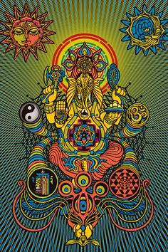 ☯☮ Psychedelic art