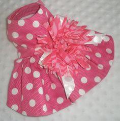 pink polka dot flower dress
