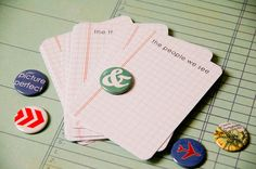 BUNDLE - Your choice of 10 sets of Journaling Cards & Badge Sets - Scrapbooking - Project Life