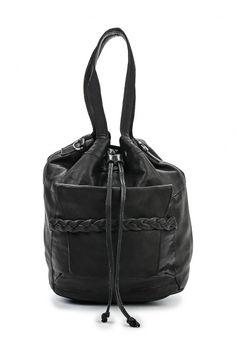 Стильная сумка-мешок от Pieces выполнена из мягкой натуральной кожи черного цвета. Детали: регулируемая кулиска, длинная удобная ручка, внешний карман с магнитной застежкой, декор в виде пленения, большое внутреннее отделение и карман на молнии.