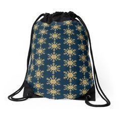 'Golden Glitter Sparkle Snowflake on Christmas Midnight Blue' Throw Pillow by podartist Blue Throws, Blue Throw Pillows, Custom Drawstring Bags, Golden Glitter, Designer Throw Pillows, Iphone Wallet, Pillow Design, Midnight Blue, Snowflakes