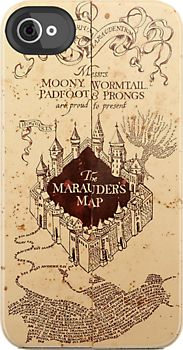 Marauders Map iPhone Case. The only time I've ever wanted an iPhone..
