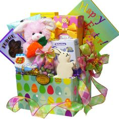 Art of Appreciation Gift Baskets   Easter Bunny Chocolate and Candy Care Package Box, Pink or Purple Rabbit - http://bestchocolateshop.com/art-of-appreciation-gift-baskets-easter-bunny-chocolate-and-candy-care-package-box-pink-or-purple-rabbit/