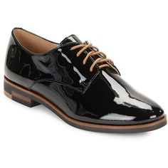 Karl Lagerfeld Iva Patent Leather Oxfords (€61) ❤ liked on Polyvore featuring shoes, oxfords, patent oxford shoes, patent oxfords, patent leather oxford shoes, lace up oxford shoes and karl lagerfeld shoes