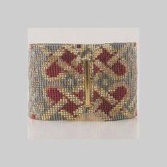 5 Drop Peyote Pattern for Celtic Hearts Cuff Bracelet by BeadholdenDesigns for $3.60 on #zibbet