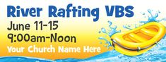Customize this banner for your Splash Canyon VBS for FREE! See more designs at Concordia Supply!