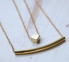 Lantisor Bar-Heart Fashion Necklace, Gold Necklace, Necklaces, Bar, Shopping, Jewelry, Gold Pendant Necklace, Jewlery, Jewerly