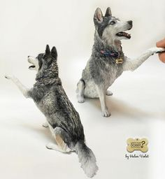 Dog sculpture by Helen Violet
