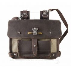 Alchemy Gothic Steampunk Bag Wing-Commanders Attache Pouch LG64
