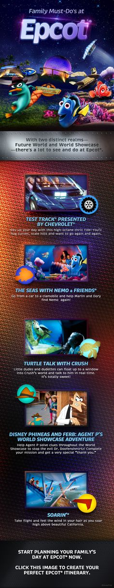 Family Must-Do's at Epcot! (Or click other options to personalize your own trip)!