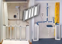 Caregiver Doors Help People Bathe With Dignity And Comfort, While Allowing  Caregivers To More Comfortably