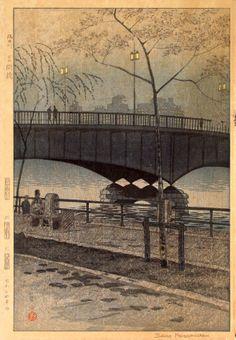 Kototoi Bridge on the Sumida River, by Kasamatsu Shirō, 1959