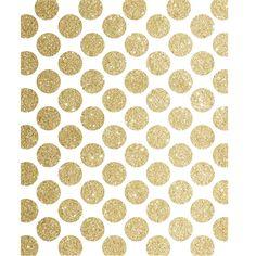 Gold Glitter Polka Dots Printed Backdrop