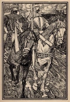 King Bors and King Ban, illustrated by Walter J. Enright