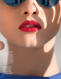 Anna Selezneva by Hans Feurer for Vogue Russia