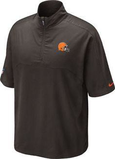 Cleveland Browns Brown Nike Sideline Hot Jacket