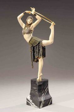 Demetre Chiparus Romanian Art Deco era sculptor Demetre h. Chiparus (1886-1947) | Animated bronze ... Dance