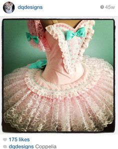 Credit: DQ Designs Perfect Coppelia Tutu. To follow more boards dedicated to tutus and dance costumes, little ballerinas, quotes, pointe shoes, makeup and ballet feet follow me www.pinterest.com/carjhb. I also direct the Mogale Youth Ballet and if you'd like to be patron of our company and keep art alive in Africa, head over to www.facebook.com/mogaleballet like us and send me message!