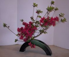 My Ikebana teacher Kaye Vosburgh has been studying Sogetsu Ikebana for a long time. In 1989 she became a teacher and started teaching beginners. This past year she received the final top promotion, Riji. Only eight other people outside Japan received this in 2012.