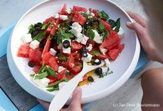 Melonen-Feta-Minze-Salat