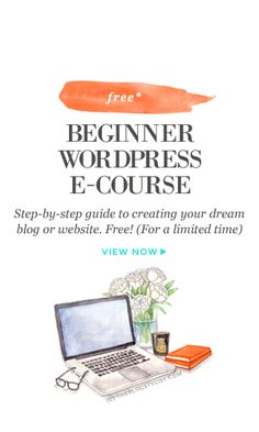 Free beginner WordPress e-course: A step-by-step guide to creating your dream… Marketing Online, Marketing Digital, Content Marketing, Media Marketing, Marketing Strategies, Internet Marketing, Wordpress For Beginners, Blogging For Beginners, Wordpress Guide