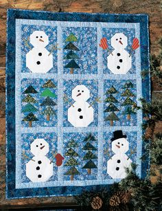 QM Cool Down: Winter quilts such as Snowmen in the Woods are featured in the latest blog post on Quilty Pleasures.