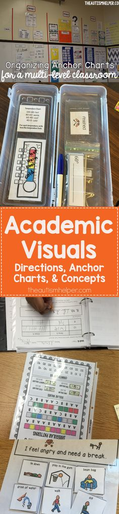 Check out the important ways to use academic visuals in your classroom! From theautismhelper.com