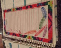 Laminated Double sided Dashboard (Moveable) – Erin Condren Life Planner