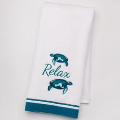 "SONOMA life + style® Shoreline ""Relax"" Hand Towel"