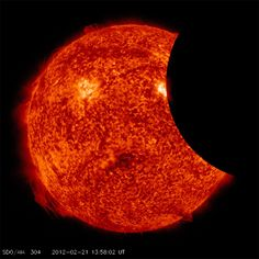 Amazing image of the Sun getting eclipsed by the Moon... from space!