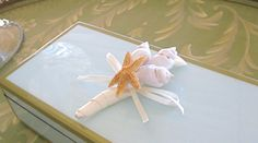 Beach Wedding Seashell Boutonniere with your by SeashellCollection, $22.00