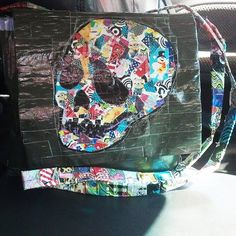 Duct Tape Skull Purse as featured on ducttapefashion.com  #ducttape