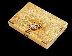 Bijou poudrier - diamants or jaune Van cleef & Arpels  - Bijoux: Pas de danse chez Van Cleef & Arpels.