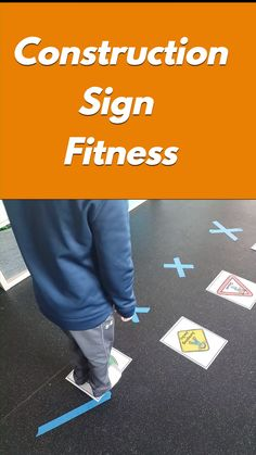If you are looking for a fun way to add movement to your construction theme look no further. These cute construction sign fitness activities are perfect for a classroom, home, therapy center and more! Preschool Movement Activities, Physical Activities For Kids, Feelings Activities, Exercise Activities, Motor Skills Activities, Fitness Activities, Exercise For Kids, Toddler Activities, Learning Activities