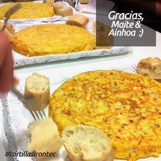 Trío de suculentas tortillas, por cortesía de Maite y Ainhoa...