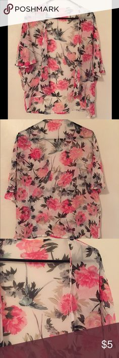 Sheer floral swim cover up This sheer floral swim cover up is unbranded and has never been used! So cute.  Please feel free to ask any questions.  Thank you for visiting my closet! Unbranded Swim Coverups