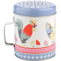 Add a retro twist to your baking with this vintage inspired flour shaker. Great for adding that finishing touch to your cakes and biscuits. Decorated in our eccentric Chicken print - just what every kitchen needs!