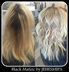 Champú  negro para matizar decoloraciones, hasta el cabello más amarillo lo blanquea, impresionante !!