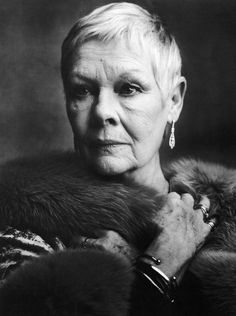 Dame Judi Dench (1934) - English film, stage and TV actress, occasional singer and author. Photo by Ann Caruso for Vanity Fair.