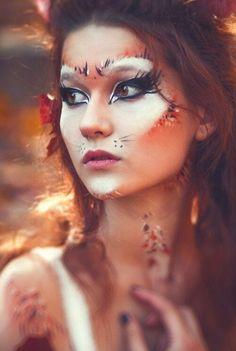 Cute and easy little girl fox halloween makeup halloweenparty felino makeup costume diy halloween solutioingenieria Choice Image
