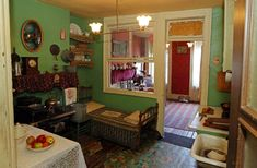Living, sleeping,cooking,  eating, washing all in a small two room flat.  tenement museum new york - Google Search