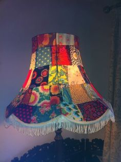 my newly created standard lampshade... Created following a tutorial by Silly Moo http://sillymoo.co.uk/2013/05/11/patchwork-lampshade/