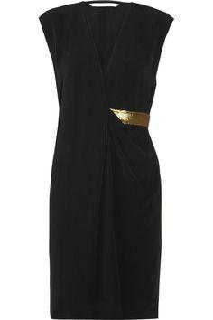 Diane von Furstenberg  theoutnet.com  Evangeline Bis crepe wrap-effect dress  Original price $398 Now $199 50% off
