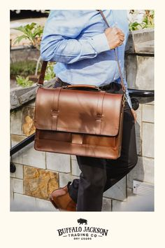 This vintage inspired collection of premium leather bags is perfect for men who appreciate quality and style. Handcrafted brown leather briefcase, attache, duffle, messenger bag, dopp kit, wallets, and more. Great gift ideas! Brown Leather Messenger Bag, Leather Bags, Men's Leather, Messenger Bags, Briefcase For Men, Leather Briefcase, Leather Satchel, Waxed Canvas Bag, Commuter Bag